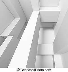 Architecture Background - 3d White Abstract Architecture...