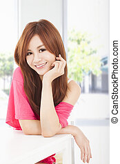 smiling young beautiful woman