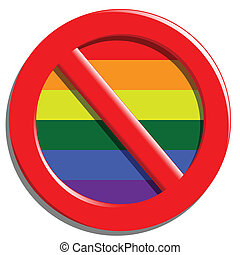 Stop gays - Illustration of a stop sign gays and...
