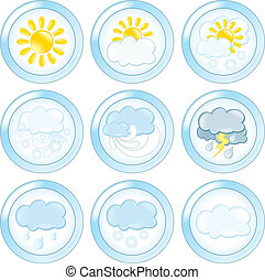 Weather Buttons Set