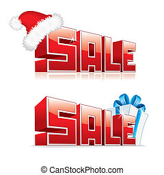 3D Word Sale. Vector Images for Your Design.