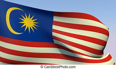 Flag of Malaysia - Flags of the world collection - Malaysia