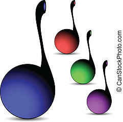 musical notes against white background, abstract vector art...