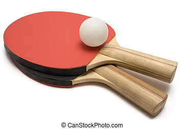 Ping Pong Paddles with Ball - Two ping pong paddles with...