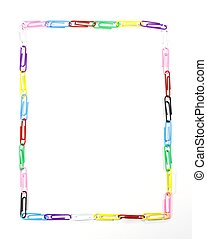 colour clips picture frame isolated