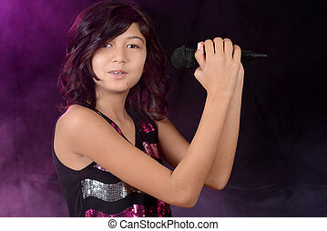 Female child singer - Portrait of a Female child singer