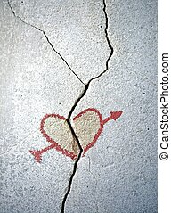 Broken Heart - In the old cracked wall, someone drew a heart...