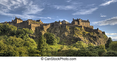 Edinburgh Castle on Castle Rock in Edinburgh, Scotland, UK