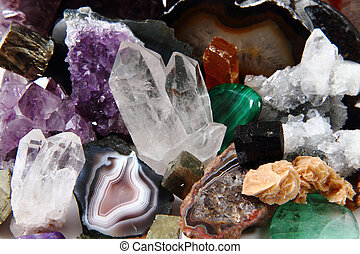 mineral collection as very nice natural gems background