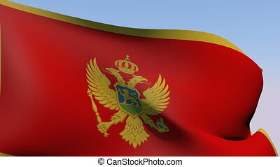 Flag of Montenegro - Flags of the world collection -...