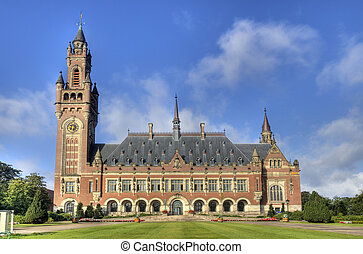 Peace Palace in Holland - The Peace Palace, International...
