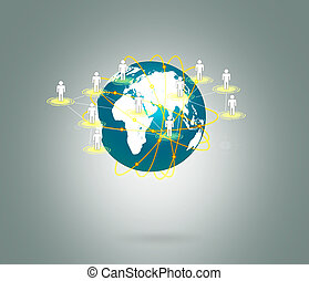 Earth of social network