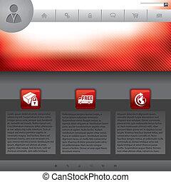 Simplistic website template