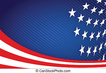 American Flag Design illustration design graphic background