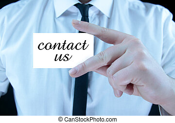 contact,  -,  Business, carte, nous