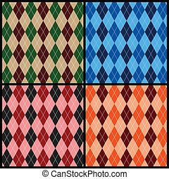 Argyle pattern - Seamless argyle pattern background. Vector...