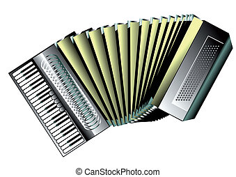 accordion isolated on white background. 10 EPS
