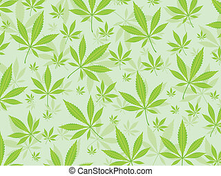 marijuana leafs background - Green marijuana leafs...