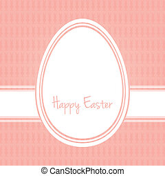 happy easter egg white pink bunny background