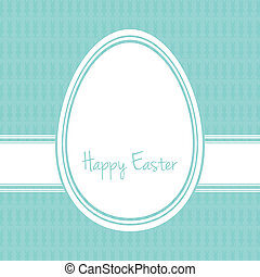 happy easter egg white blue bunny background