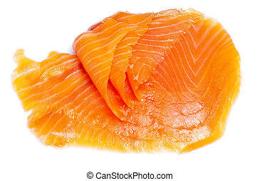 Salty Salmon on white isolated background