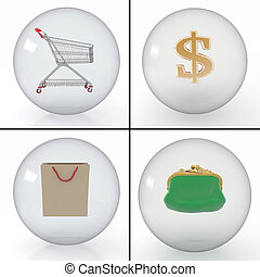 different objects for a purchase