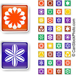 Flower web buttons