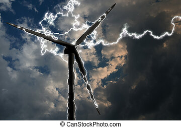 Energy - Wind energy and lightning