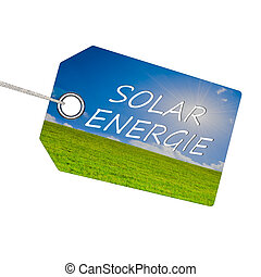 Solar energy - Abstract demonstration of solar energy in 3D