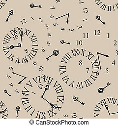 clock face - antique clock face seamless background