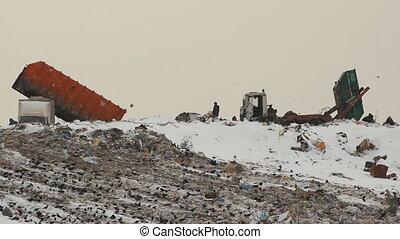 Dump landfill