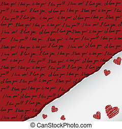 valentine card with handwritten
