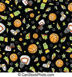 Basketball Sports Seamless Pattern