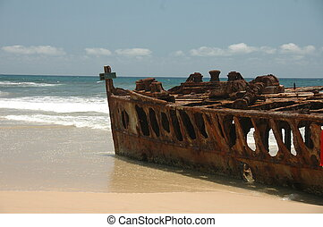 Rusty Shipwreck - A rusty shipwreck in Australia