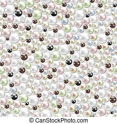 various pearls background - seamless background with various...