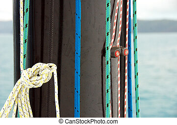 Tidy Ropes - A shot of ropes on a mast