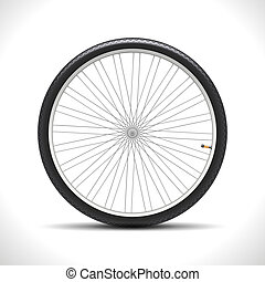 Bicycle Wheel isolated on white