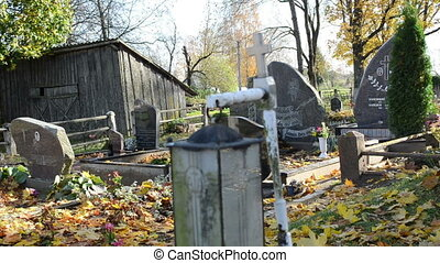 graveyard decor autumn - old graveyard decoration light lamp...
