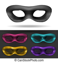 Carnival Mask - Simple Black and colored Carnival Mask...