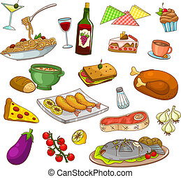 restaurant food - collection of restaurant food and dishes