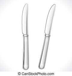 Table Knife isolated on white