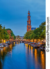 Western church in Amsterdam - Western church on...