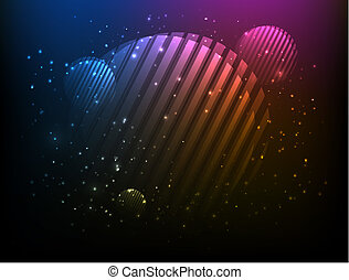 Abstract Vector Cosmic Circle Background