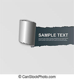 ripped white paper on dark background - ripped white paper...