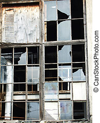broken window - a window with broken glass
