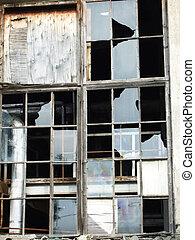 broken window - a window with broken glass