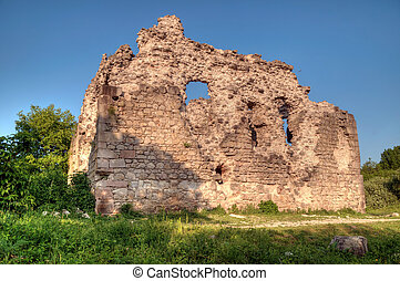 The Ruins of the wall The Ukraine, Transcarpathia