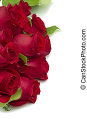 cropped image of bouquet red roses - Cropped image of...