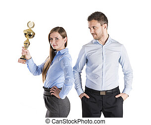 Successful business colleagues - Successful business man and...