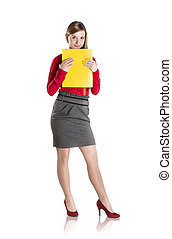 Business woman - Successful business woman is standing with...